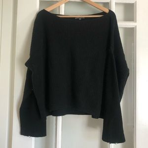 Black Boat Neck Vince Sweater | Size Large